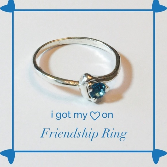 PassionKids Other - Heart Silver plated Teal CZ  Ring